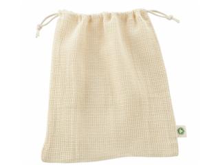 Einkaufsnetz für Obst und Gemüse Bio-Baumwolle 2er Pack natural