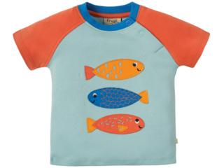 Baby und Kinder T-Shirt Fische mint