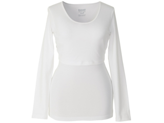 Still Shirt Langarm weiß
