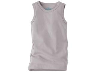 Baby und Kinder Unterhemd Bio-Baumwolle grau