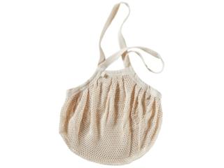 Netz Einkaufstasche Bio-Baumwolle natur