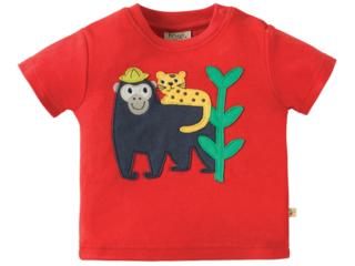 Baby und Kinder T-Shirt Äffchen rot