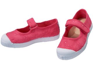 Kinder Schuhe Ballerinas Stickerei und Klettverschluss rosa vivo