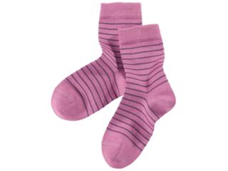 Kinder Socken berrycream-geringelt
