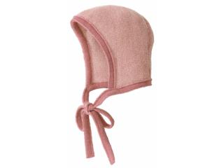 Baby Strickmütze melange-rosé