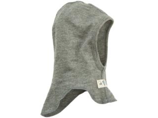 Baby und Kinder Helmmütze Schlupfmütze Wolle Seide melange-grau