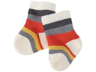 Baby Socken naturweiß-geringelt