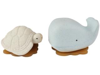 Badewannenspielzeug Wal Schildkröte Naturkautschuk blue vanilla