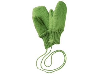 Baby und Kinder Handschuhe, Merino-Wollwalk (kbT) grün