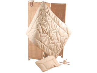 Baby- und Kinderbettdecke Baumwolle (kbA)-Kapok