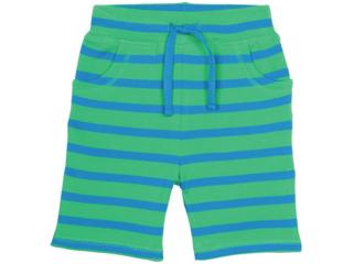 Baby und Kinder Bermuda grün-blue-geringelt