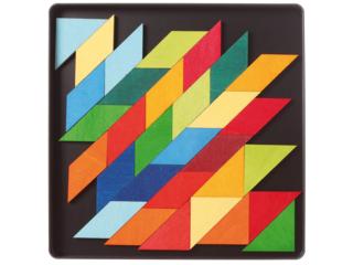 Magnetspiel Puzzle aus Birken- und Pappelholz 59-teilig Quadrat Indian
