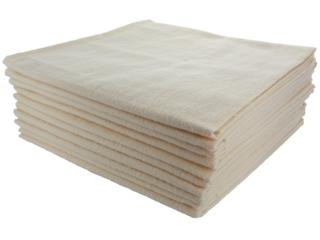 Moltontücher Bio-Baumwolle 10er-Set, 40 x 40 cm
