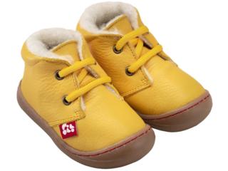 "Kinder Schuhe ""Juan"" pflanzlich gegerbt gelb"