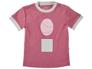 Kinder T-Shirt Bio-Baumwolle Heißluftballon beere