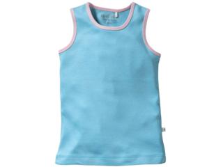 Kinder Unterhemd Bio-Baumwolle türkis