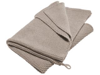 Handtuch Bio-Baumwolle Perl-Strick-Qualität steel grey