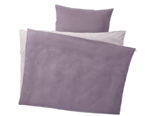 Biber Bettwäsche zum Wenden Bio-Baumwolle lila