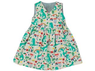 Kinder Kleid zum Wenden Dino-Ringel
