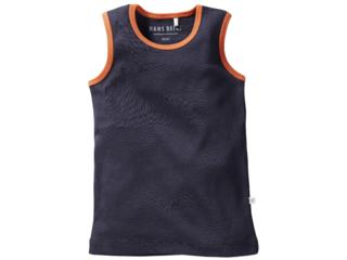 Kinder Unterhemd Bio-Baumwolle dunkelblau