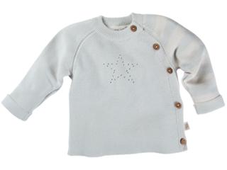 Baby Jacke Strick Qualität Bio-Baumwolle Stern zartmint