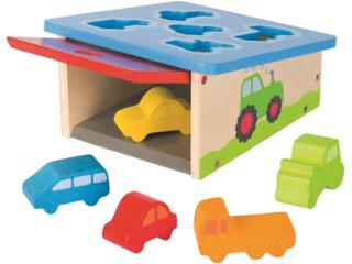 "Steckspiel ""Autos"" aus Holz, 6-teilig"