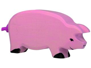 """Holzfigur """"Schwein"""" Auf dem Bauernhof"""