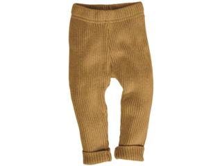 Baby und Kinder Leggings Bio-Baumwolle Strick curry