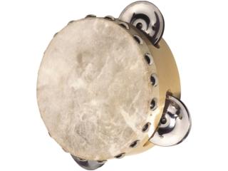 Tamburin Naturfell mit 3 Schellen