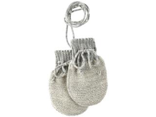 Baby Handschuhe melange-hellgrau