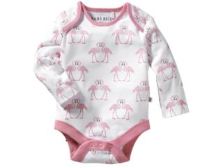 Baby Langarmbody Bio-Baumwolle Flamingo