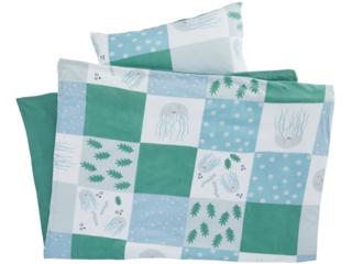 Kinderbettwäsche Bio-Baumwolle Jersey Patchwork Qualle
