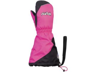 Kinder Handschuhe Fäustlinge mit Stulpen pink glo-black