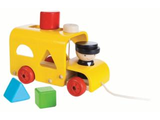 Kinder Sortierbus Steckspiel aus Kautschukholz