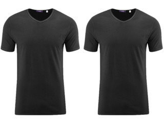 "Herren T-Shirt ""Dean"" 2er Pack schwarz"