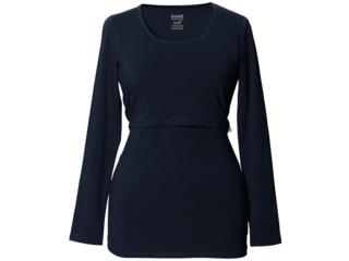 Still-Shirt Langarm midnight blue
