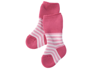 Babysocken Frottee rosa-geringelt