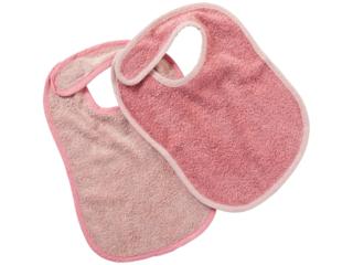 Lätzchen mit Klettverschluss 2er Set rosa