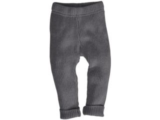 Baby und Kinder Leggings Bio-Baumwolle Strick dunkelgrau melange