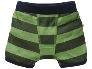 Jungen Boxershorts Bio-Baumwolle Blockstreifen grün