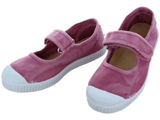 Kinder Schuhe Ballerinas mit Kappe und Klettverschluss rosa