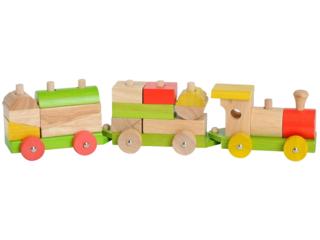 Holzeisenbahn Sortiereisenbahn, 16-teilig