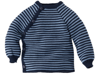 Baby Jacke Schlüttli Baumwolle (kbA) marine-hellblau