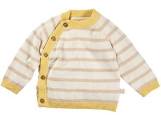 Baby Jacke Strick-Qualität Bio-Baumwolle beige-ecru