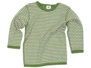 Baby und Kinder Langarmshirt zum Wenden waldgrün