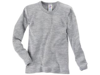 Kinder Langarmshirt Unterhemd grau-melange