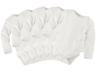 Baby Langarmbody Bio-Baumwolle 5er Set off white