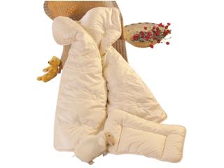 Baby- und Kinderbettdecke Bio-Merinowolle (kbT)