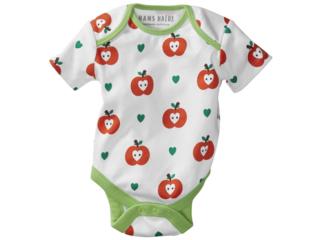Baby Body Kurzarm Bio-Baumwolle Apfel