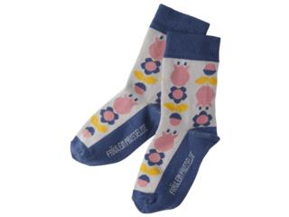 Kinder Socken Blume grau